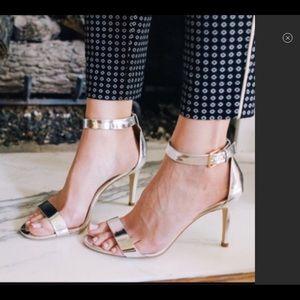 J. Crew Metallic High Heel Sandals - Size 10